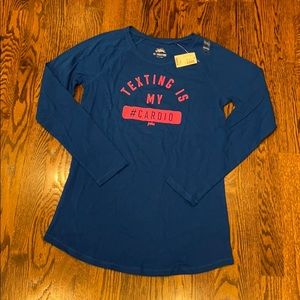 NEW Justice Girls Texting Long Sleeve Shirt Sz 18